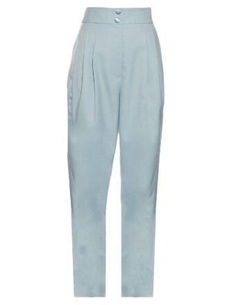 pleated light blue light blue pants