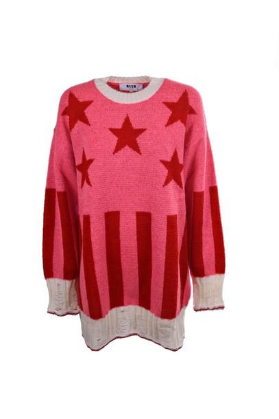 MSGM jumper long stripes stars sweater