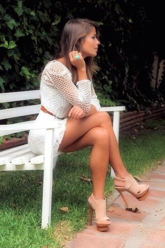 blouse sexy plaid high heels