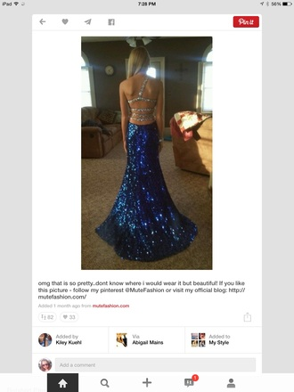 royal blue dress prom dress formal event outfit dress stapless spagetti straps long prom dress sequin dress sequins style