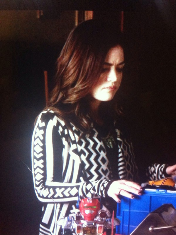 cardigan pretty little liars black and white aztec aria