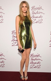 dress,cara delevingne,metallic,cute dress,green dress,green,metallica,soft grunge,girly grunge,fashion,haute couture,tags,tags for help,dressshort,mini dress,gold,mint,olive green,style,classy,girly