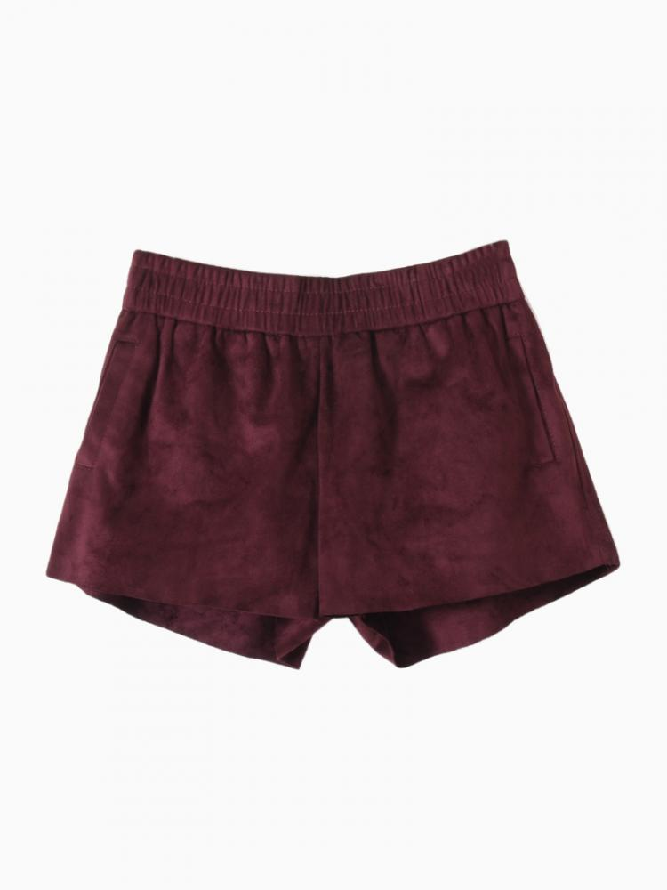 Winered Shorts With Elastic Waist | Choies