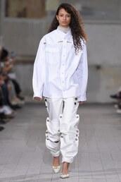 pants,paris fashion week 2016,y/project,runway,shirt,oversized