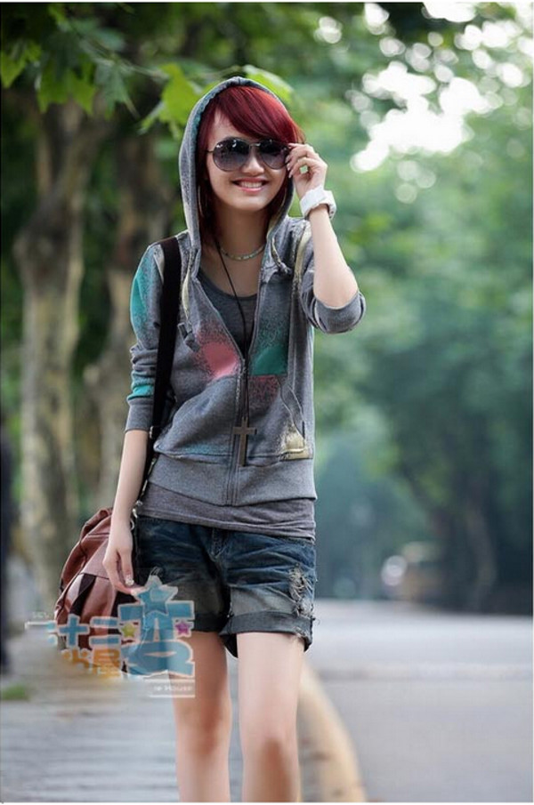 jacket 2014 new print hooded 2014 women hot hooded 2014 women fashion street style dress