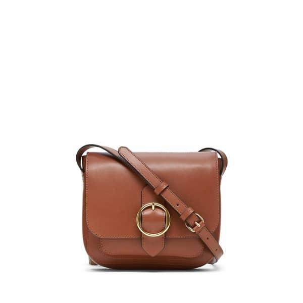 Banana Republic Women's Leather Saddle Bag Cognac Leather Regular Size One Size
