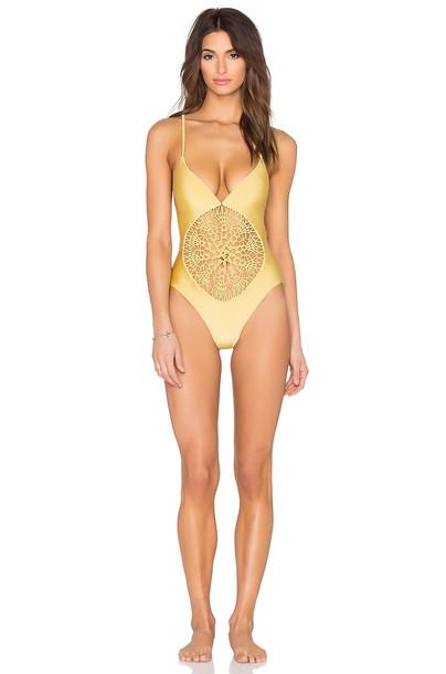 Frankies Bikinis yellow