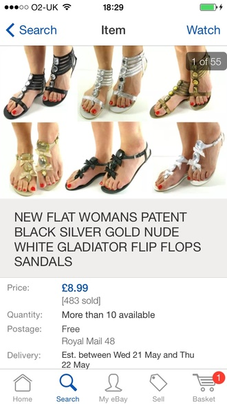 shoes new flat women patent black silver nude gold white gladiators flip-flops sandals