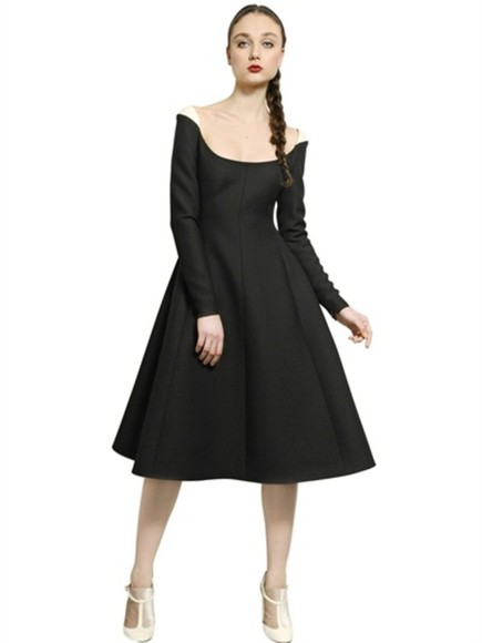 dress Valentino black luxury retro
