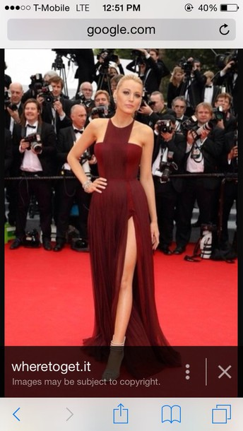 dress burgundy dress slit dress