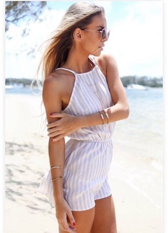 jumpsuit white jumpsuit playsuit jumpsuit style girly wishlist stripes