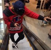 shirt,supreme,champion,menfashion,mens sweater,red
