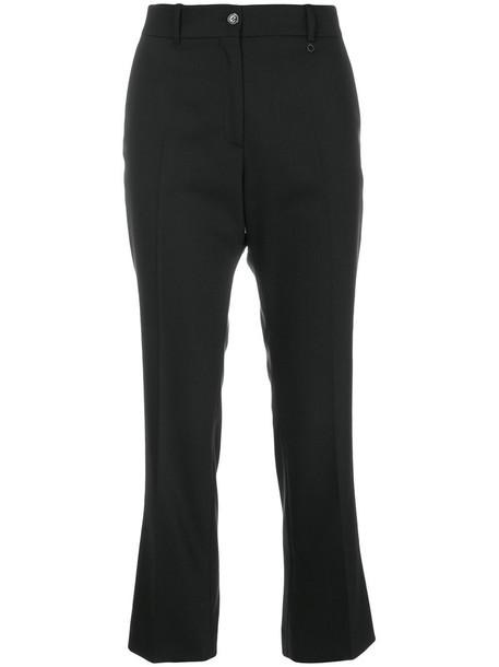 Jil Sander Navy cropped women spandex black wool pants