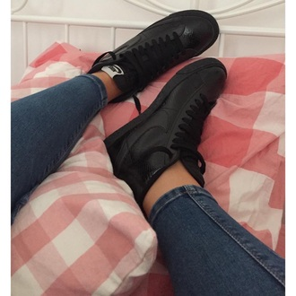 shoes black shoe black nike shoes