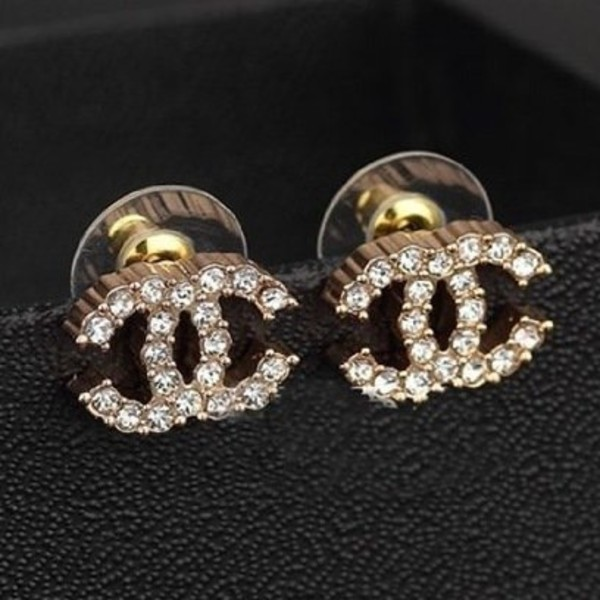 jewels earrings chanel hipster hippie