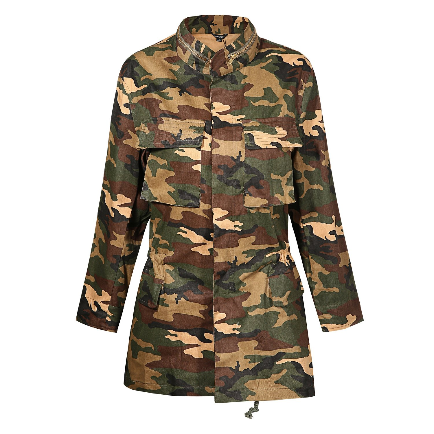 Womens Loose Camouflage Coats Disposition Outwear Jackets at ...