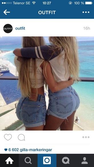 shorts levi's high waiste 501 denim shorts bff cuffed shorts
