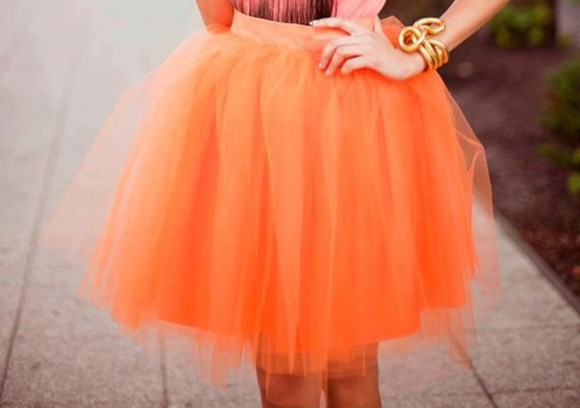 orange skirt skirt orange tulle skirt tulle
