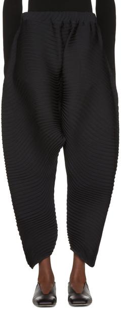 pants pleated black