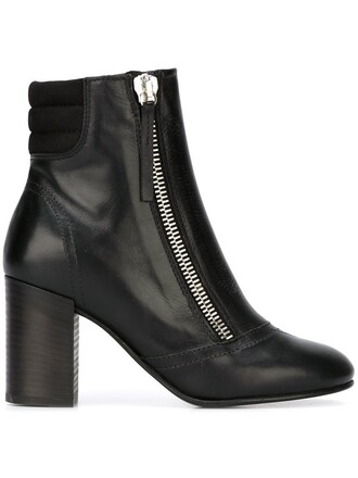 zip boots black shoes