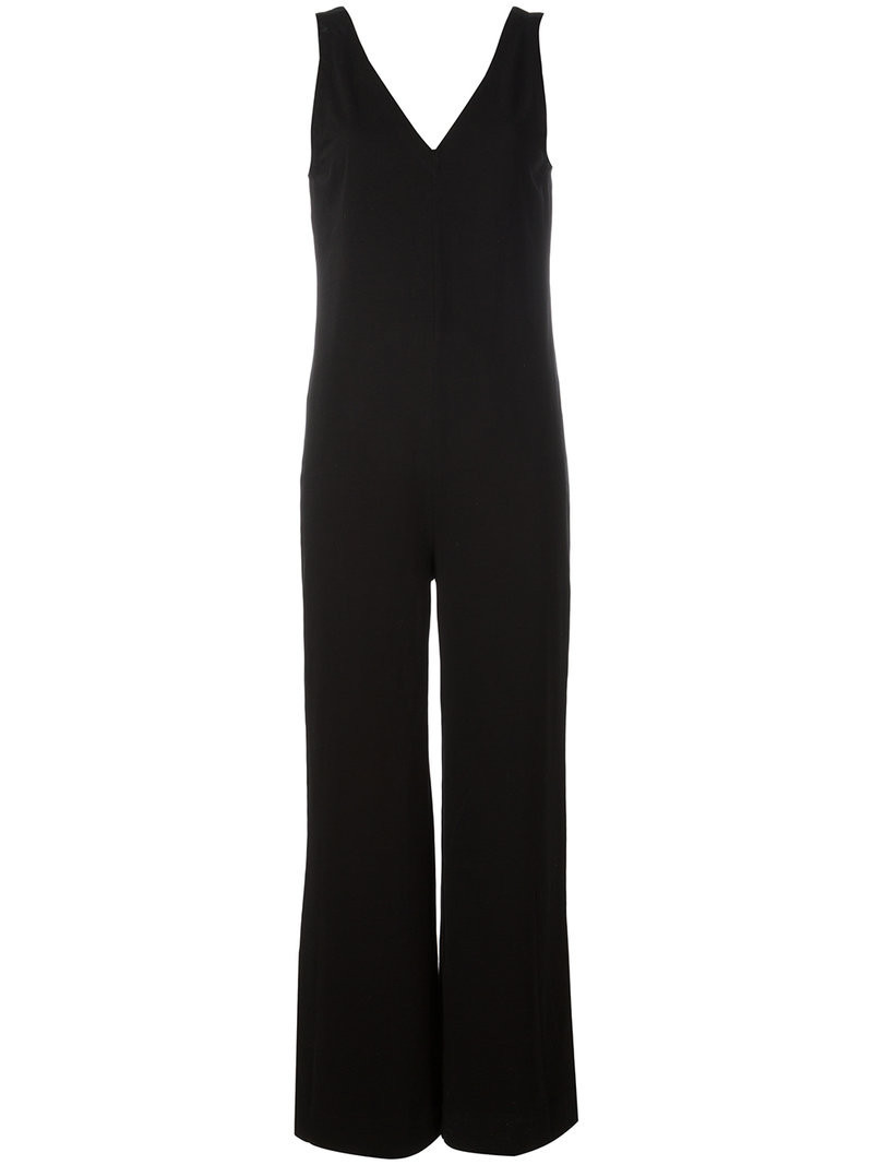 James Perse straight V-neck jumpsuit, Women's, Size: 2, Black ...