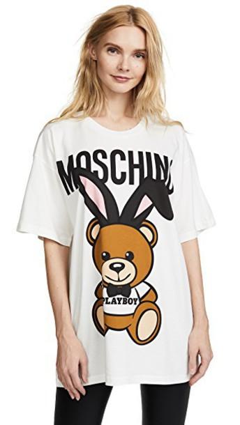Moschino bear white top