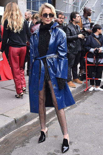coat pants see through streetstyle paris fashion week 2017 sheer fall outfits