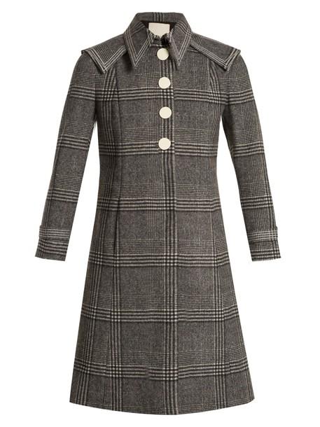 Marco De Vincenzo coat wool coat wool grey