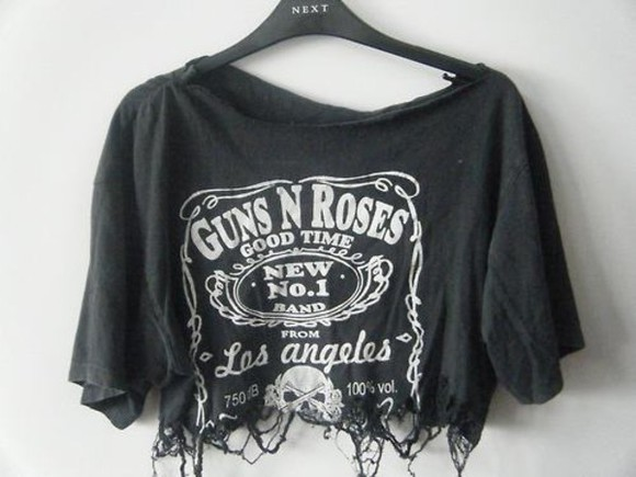 guns and roses shirt black guns n roses distressed