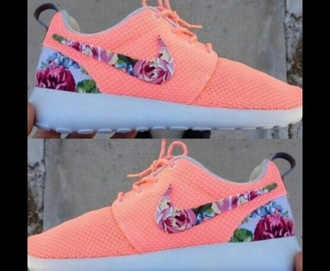 shoes light pink flower printed