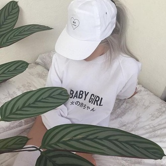 t-shirt grunge soft grunge white black and white aesthetic tumblr tumblr aesthetic cute baby girl quote on it japanese japan