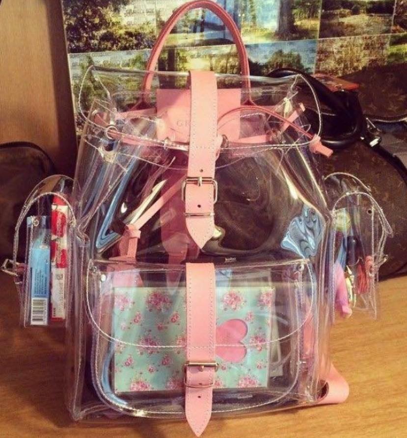 com : Buy 2016 harajyuku cute Clear Plastic See Through ...