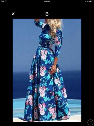dress floral dress blue dress floral maxi dress maxi dress floral blue boots elegant dress vintage long dress hippie summer dress summer tumblr girl festival festival dress flowers roses beautiful print prom dress summer outfits hipster bohemian stylish floral print shoes