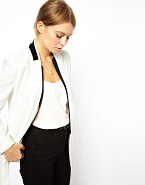 ASOS | ASOS Blazer With Contrast Detail at ASOS