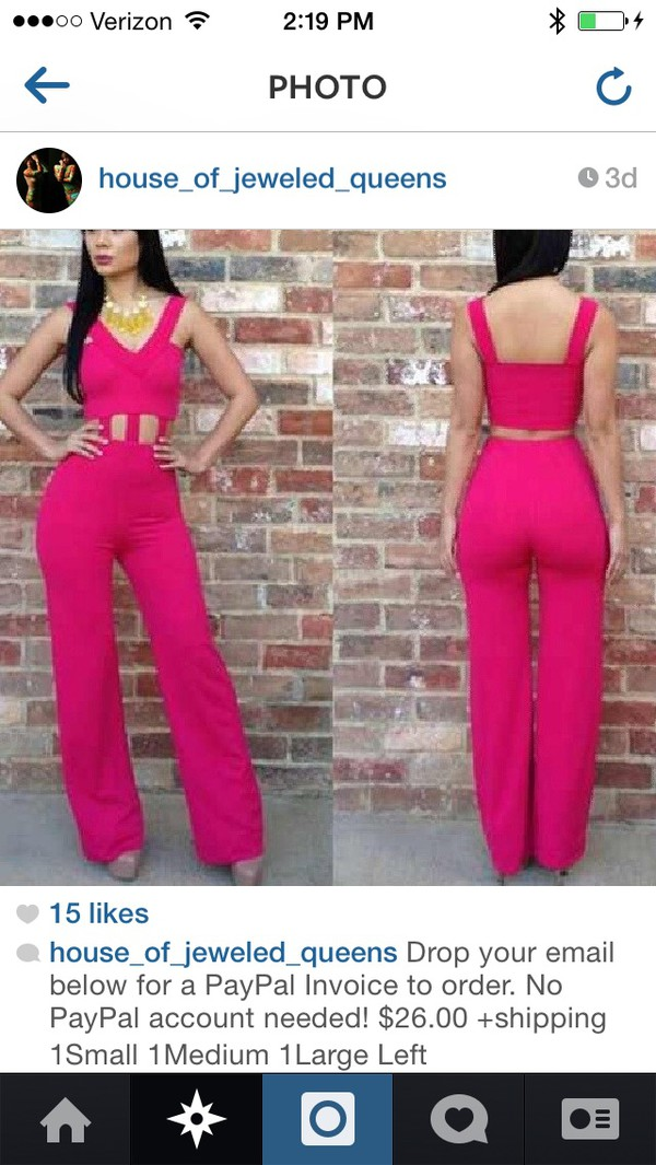 jumpsuit pink sexy