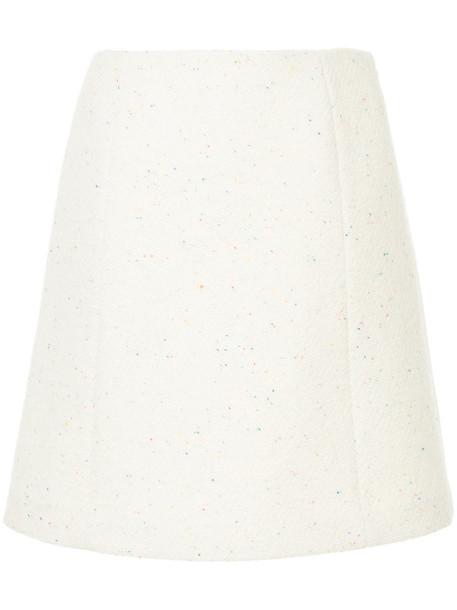 Ballsey skirt mini skirt mini women white print wool