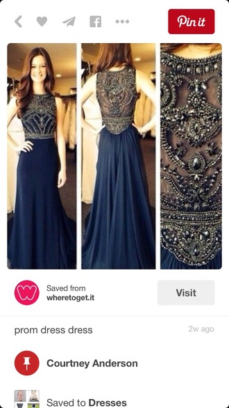 dress navy dress prom dress
