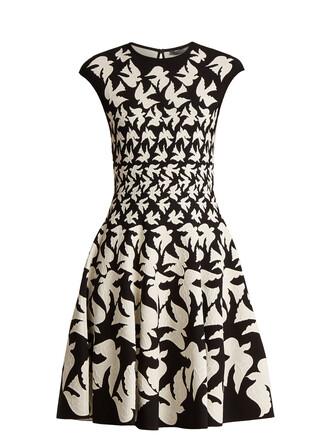 dress sleeveless white black