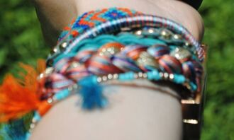 jewels bracelets indian bohemian hippie colorful pull and bear