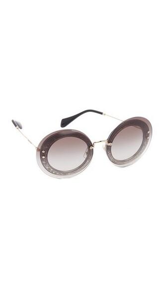 glitter transparent sunglasses grey