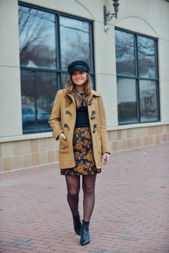to be bright blogger coat skirt hat shoes