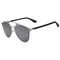 Silver frame mirrored lens high bar retro sunglasses - choies.com