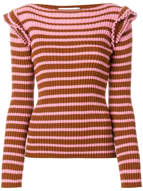 MSGM sweater women wool purple pink