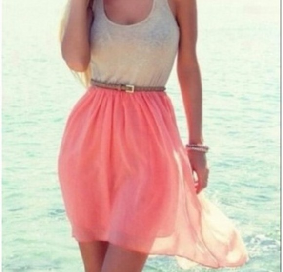 dress orange dress summer dress cream dress skirt pink white lace top skater cute summer teen cute dress nice adorable coral dress summerdress pink dress