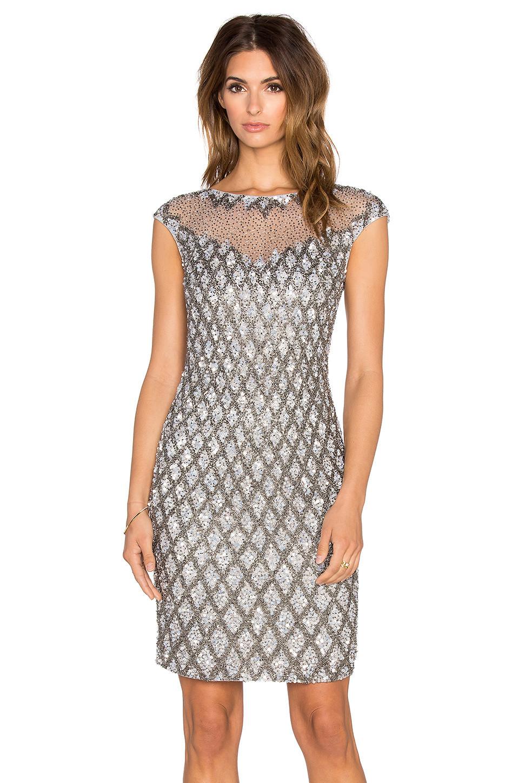 934fe295a299 Parker Black Montclair Embellished Dress in metallic / silver