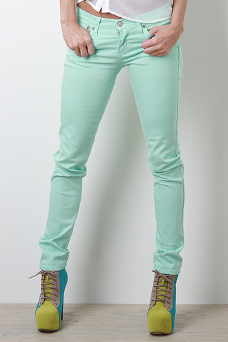 shoes urbanog blue green shoes mint green jeans