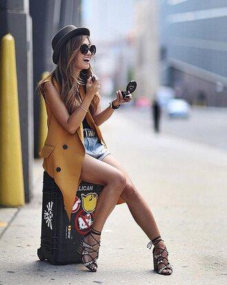 shoes sandals vest streetstyle fashion week