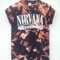 Tie dye acid wash nirvana shirt - m