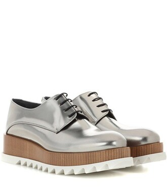 shoes leather silver