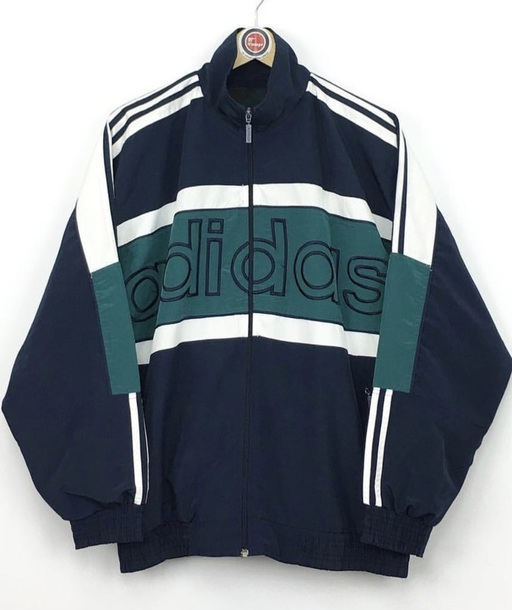 coat vintage adidas jacket blue green adidas